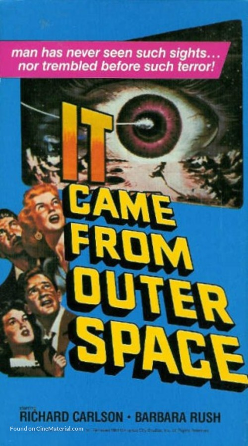 It Came from Outer Space - VHS movie cover