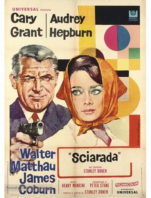 Charade - Italian Movie Poster