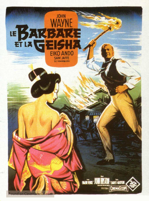 The Barbarian and the Geisha - French Movie Poster