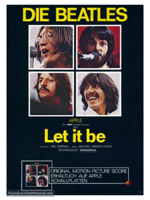 Let It Be - German Movie Poster