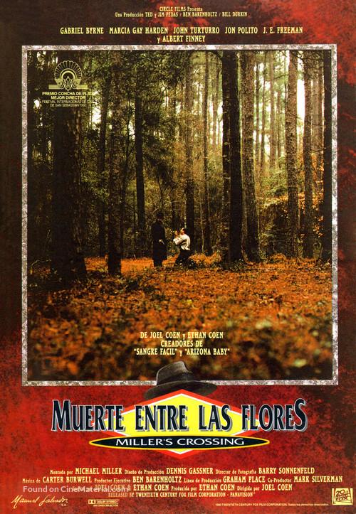 Miller's Crossing - Spanish Movie Poster