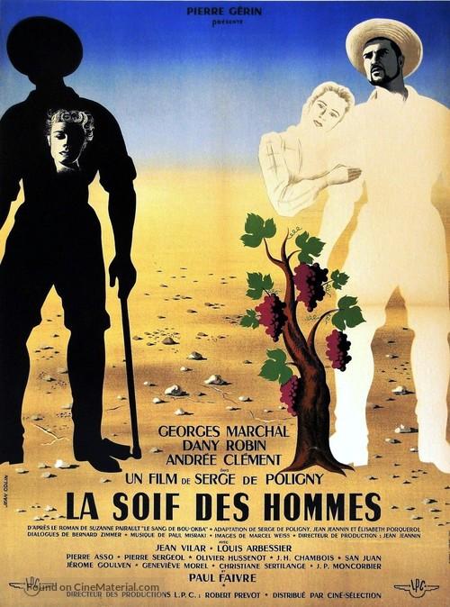 La soif des hommes - French Movie Poster
