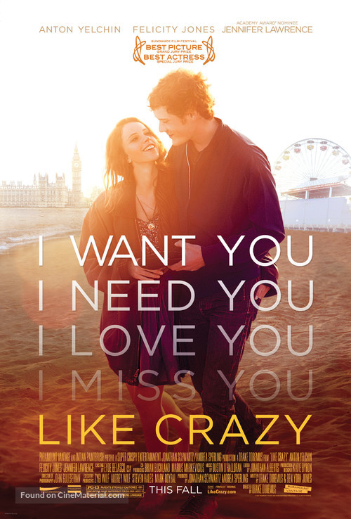 Like Crazy - Movie Poster