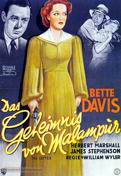 The Letter - German Movie Poster