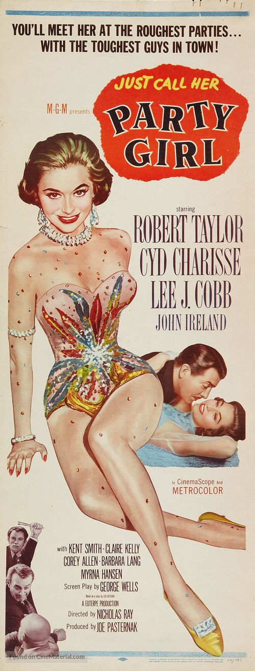 Large movie posters for the party girl 1958