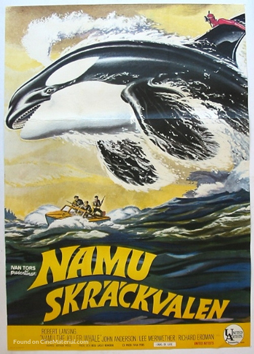 Namu, the Killer Whale - Swedish Movie Poster