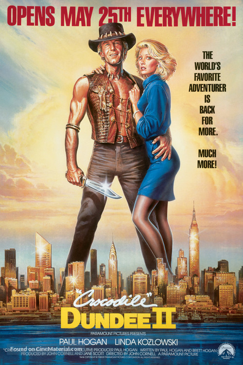 Crocodile Dundee II - Advance movie poster
