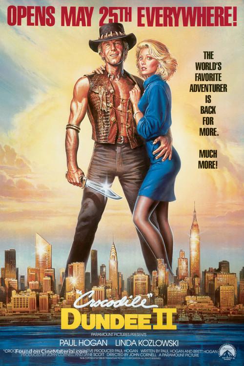 Crocodile Dundee II - Advance poster