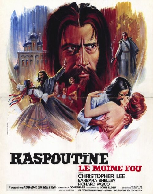 Rasputin: The Mad Monk - French Movie Poster