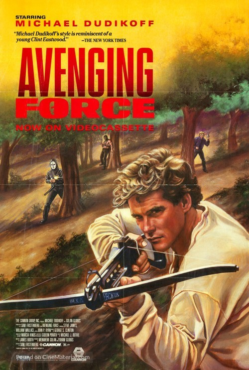 Avenging Force - Video release poster