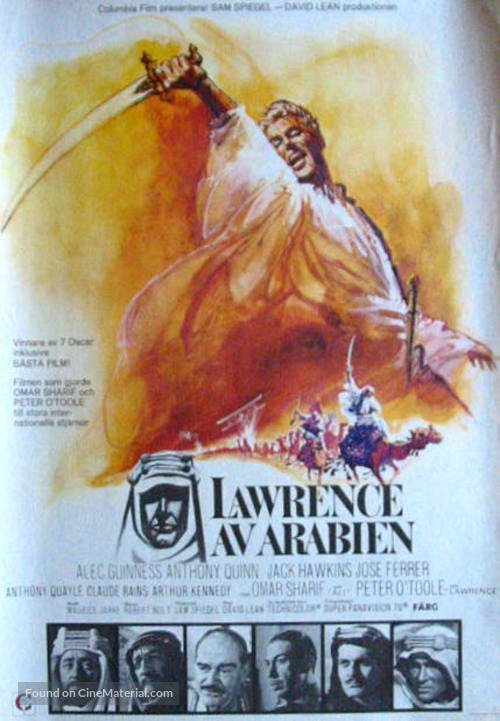 Lawrence of Arabia - Swedish Movie Poster