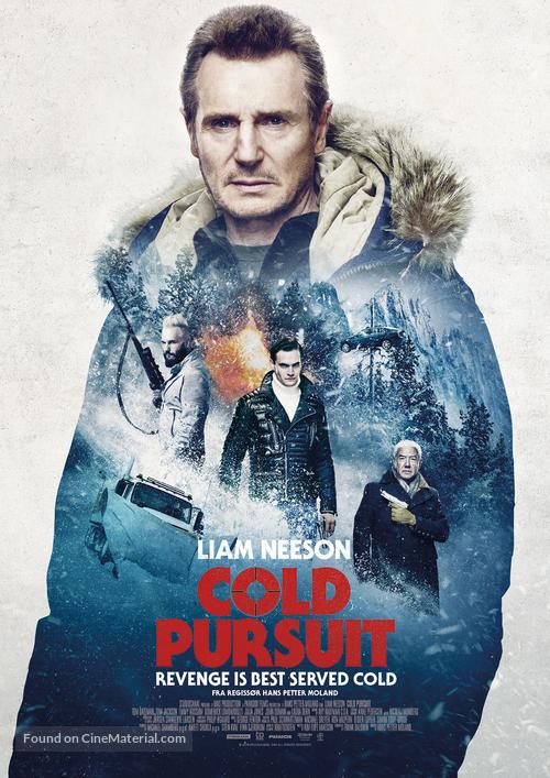 Cold Pursuit - Norwegian Movie Poster