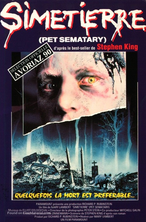 Pet Sematary - French VHS movie cover