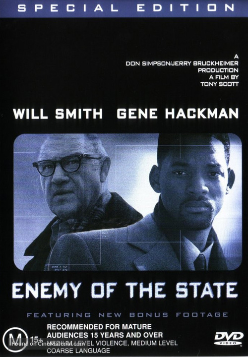 Enemy Of The State 1998 Australian Movie Cover