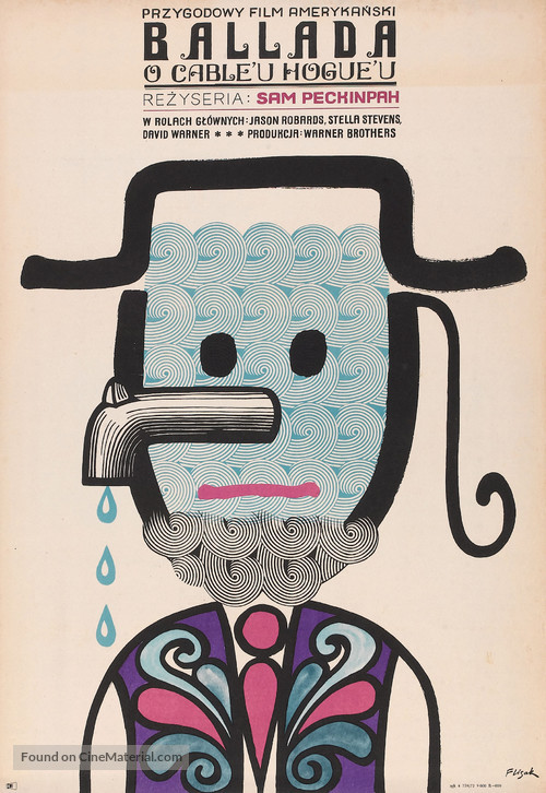 The Ballad of Cable Hogue - Polish Movie Poster