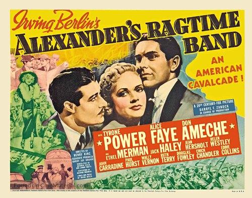 Alexander's Ragtime Band - British Movie Poster
