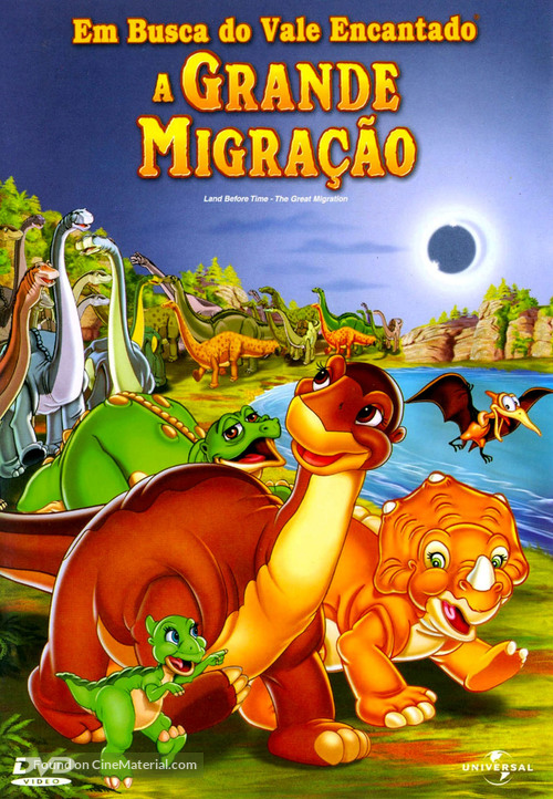 The Land Before Time X: The Great Longneck Migration - Brazilian DVD movie cover
