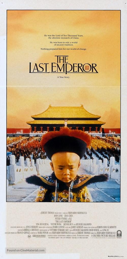The Last Emperor - Australian Movie Poster