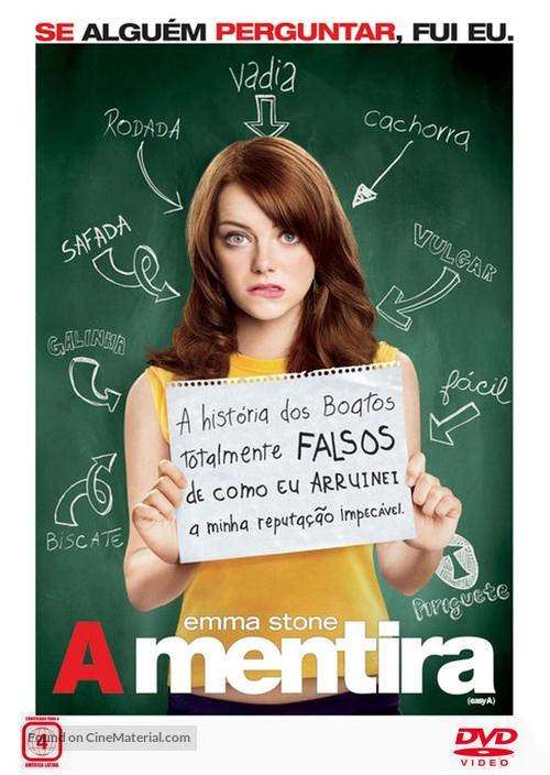 Easy A - Brazilian DVD movie cover