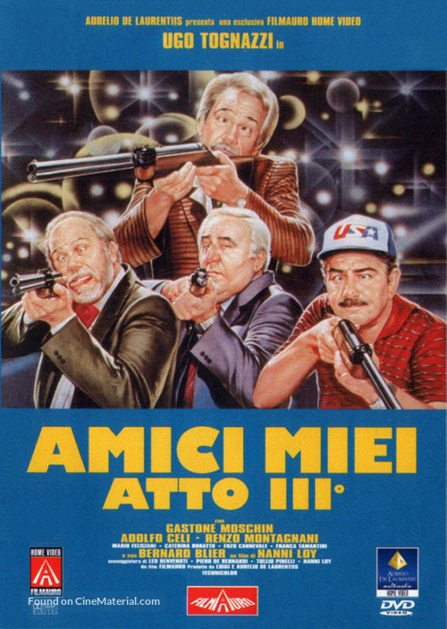 Amici miei atto III - Italian DVD movie cover