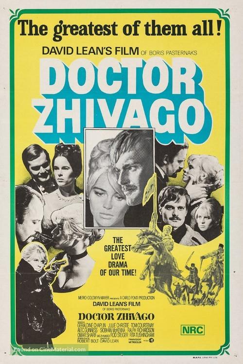 Doctor Zhivago - Australian Re-release movie poster