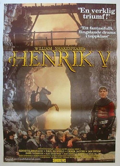 Henry V - Swedish Movie Poster