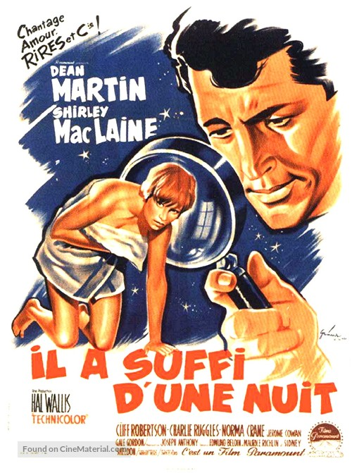 All in a Night's Work - French Movie Poster