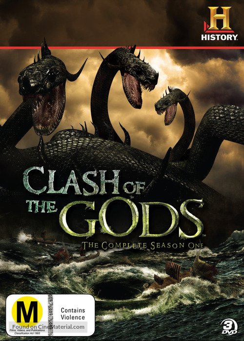 """Clash of the Gods"" - New Zealand DVD movie cover"