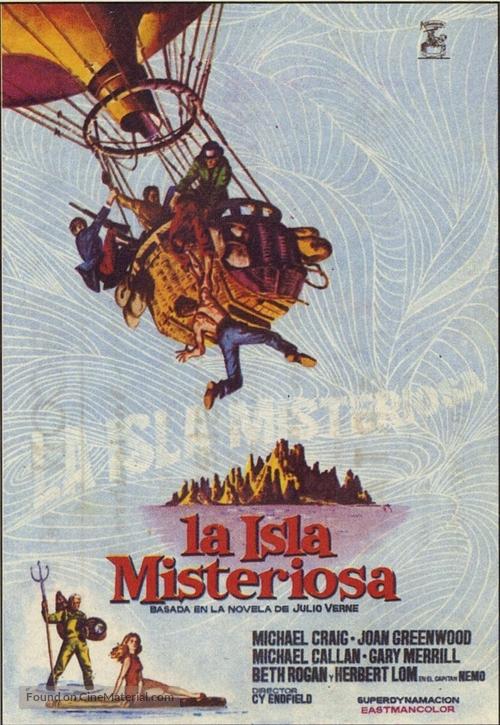 Mysterious Island - Spanish Movie Poster