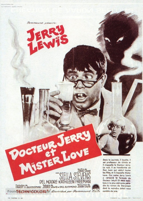 The Nutty Professor - French Movie Poster