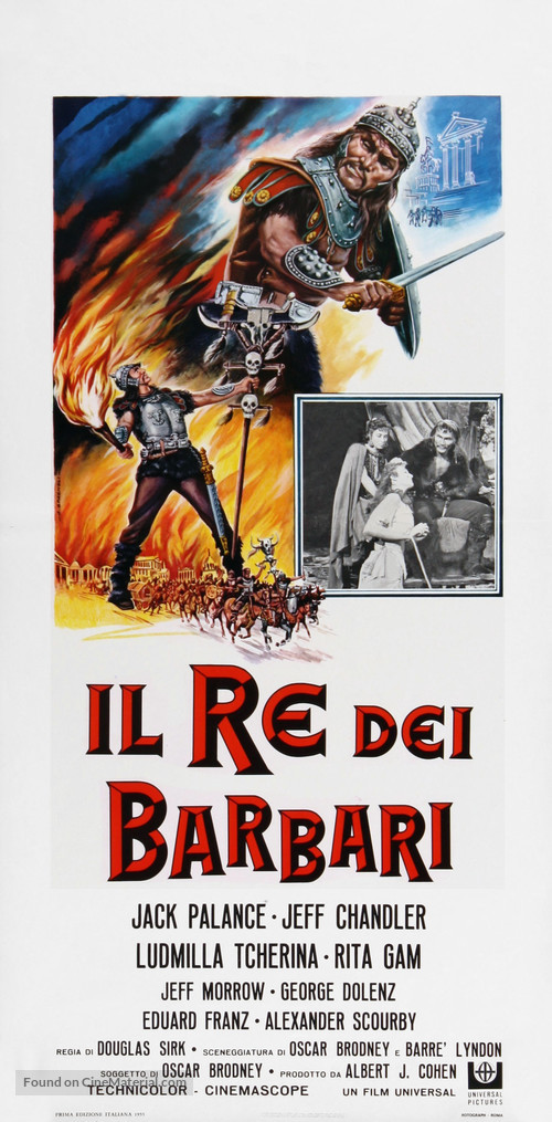 Sign of the Pagan - Italian Movie Poster