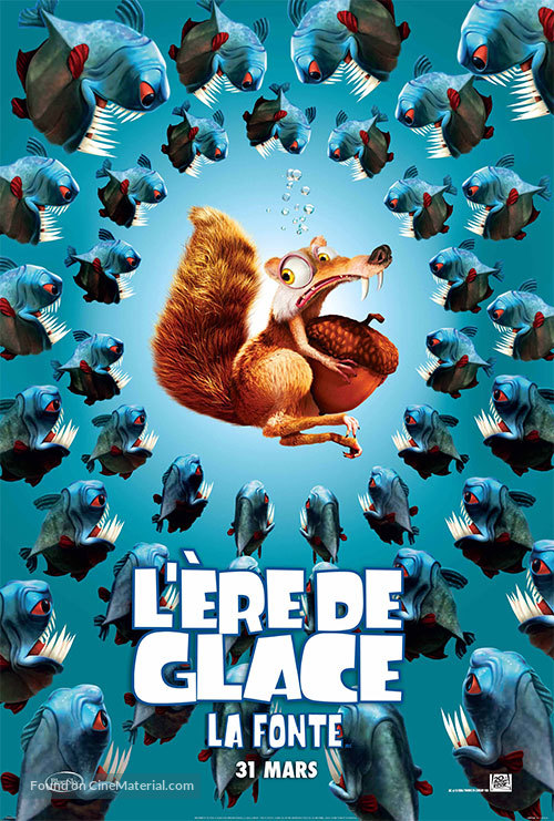 Ice Age: The Meltdown - French Movie Poster