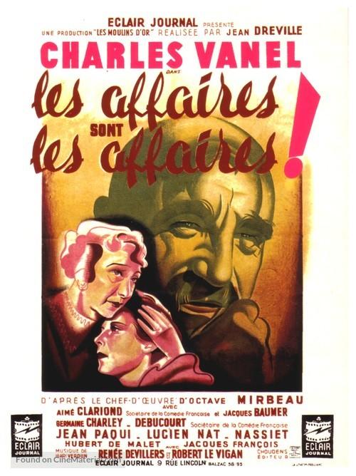 Affaires sont les affaires, Les - French Movie Poster