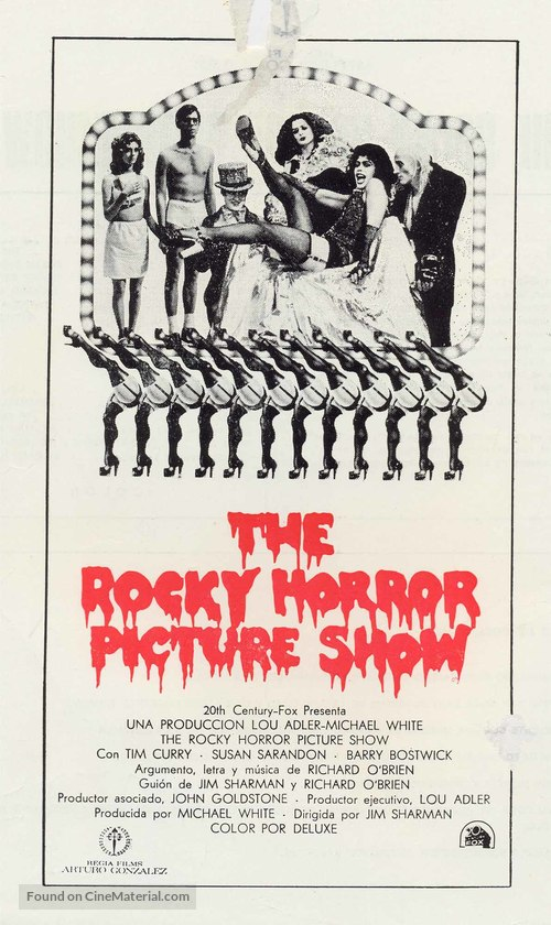 The Rocky Horror Picture Show - Spanish Movie Poster