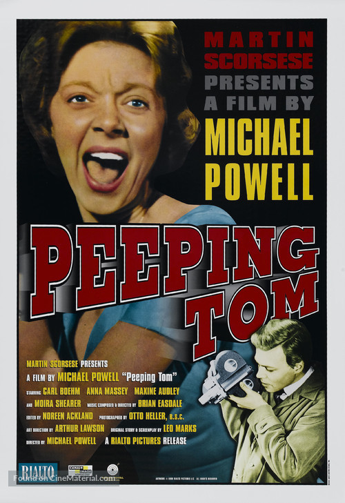 Peeping Tom - Re-release movie poster