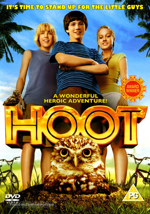 Hoot - British DVD movie cover