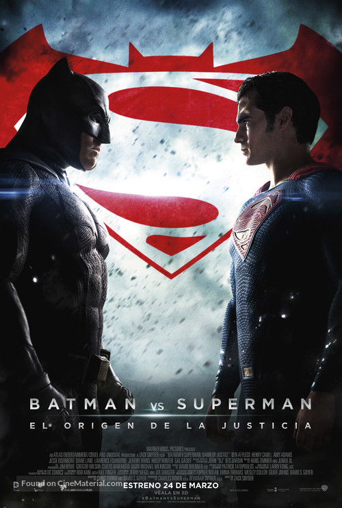 Batman v Superman: Dawn of Justice - Mexican Movie Poster