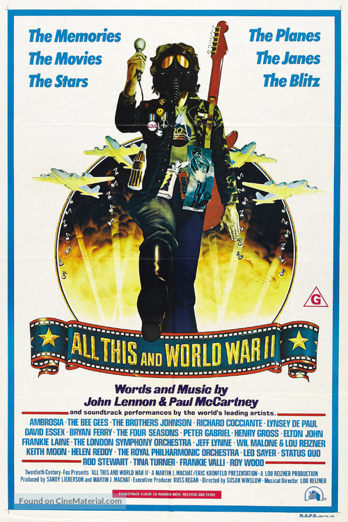 All This and World War II - Australian Movie Poster
