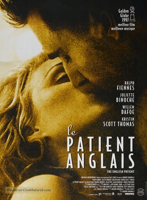 The English Patient - French Movie Poster