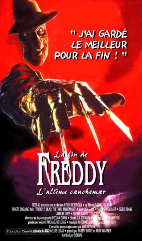 Freddy's Dead: The Final Nightmare - French Movie Poster