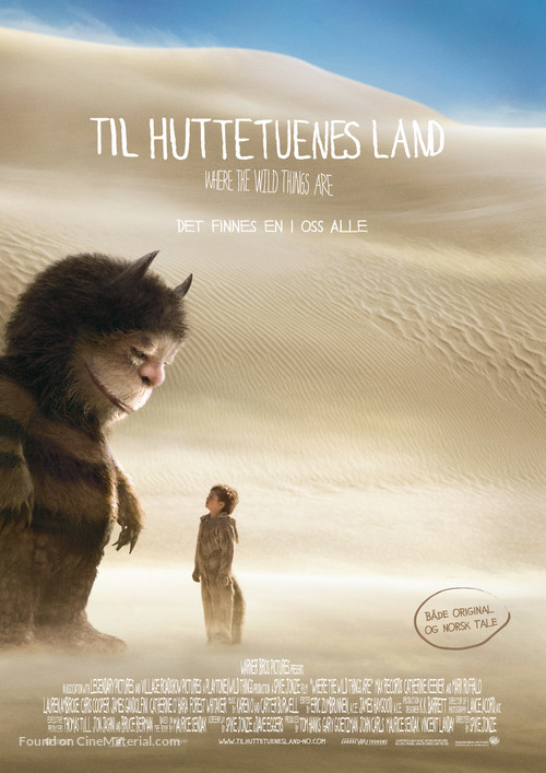 Where the Wild Things Are - Norwegian Movie Poster