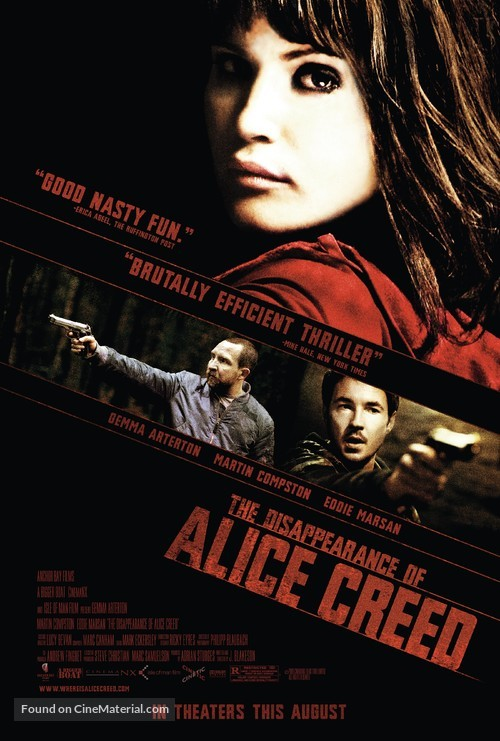 The Disappearance of Alice Creed - Movie Poster