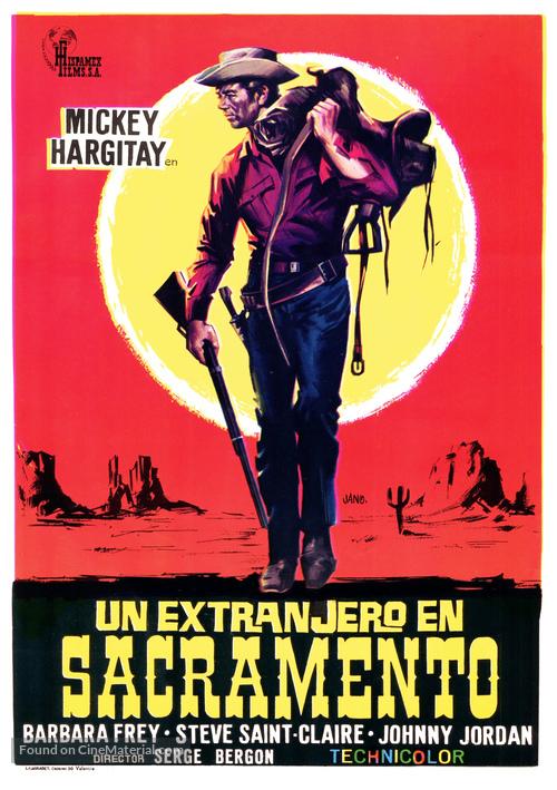 Uno straniero a Sacramento - Spanish Movie Poster