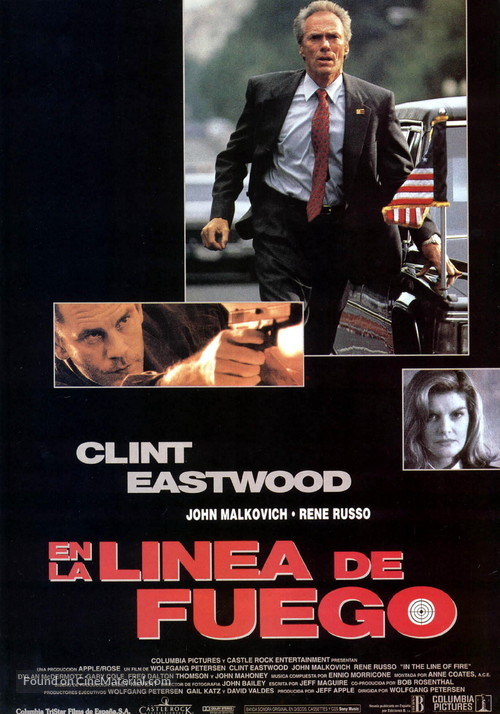 In The Line Of Fire - Spanish Movie Poster