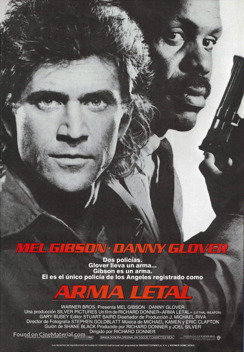 Lethal Weapon - Spanish Movie Poster