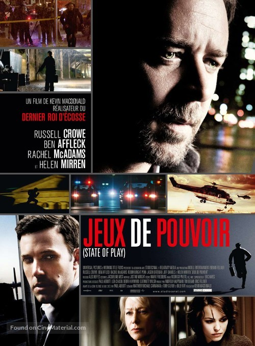 State of Play - French Movie Poster