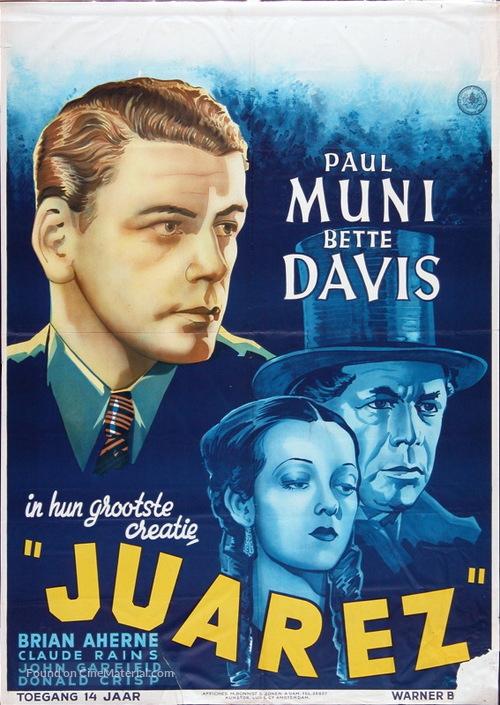 Juarez - Dutch Movie Poster