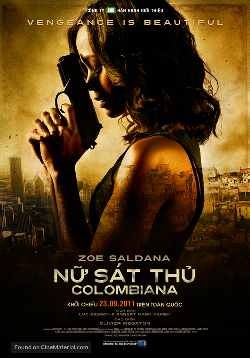 Colombiana - Vietnamese Movie Poster