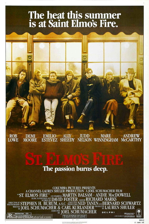 St. Elmo's Fire - Movie Poster