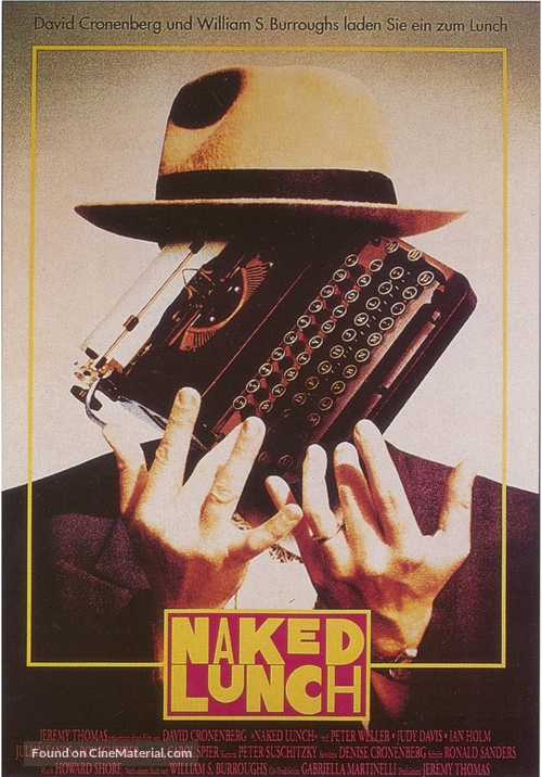 Naked Lunch - German Movie Poster